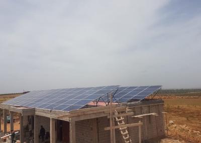Projet de pompage solaire à AIN CHGUAG 31,92 KW